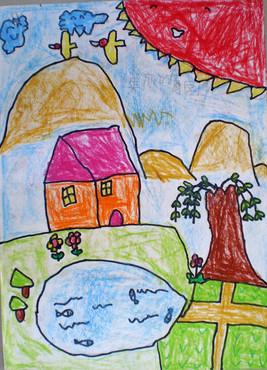 小学生的儿童画图片