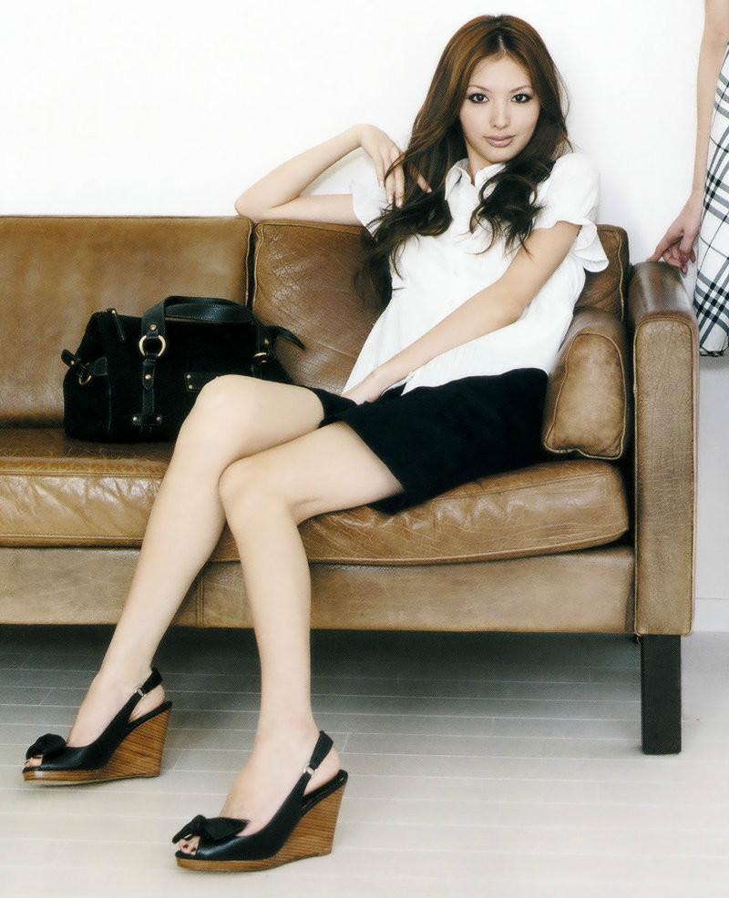 日本人气女艺人 华裔日本名模铃木惠美吴子靓时尚