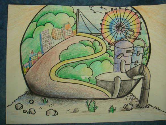 科幻画获奖作品;科学创新绘画作品一;图片   图片分享蝌蚪