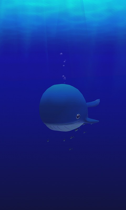 Cute Whale 3D Wallpaper