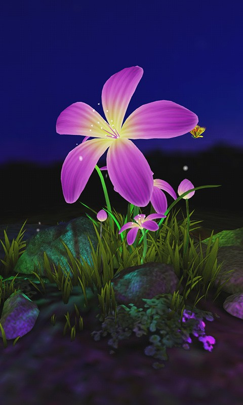 Flower 3D Wallpaper-应用截图