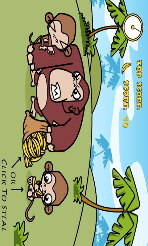 Monkey Stealing Bananas