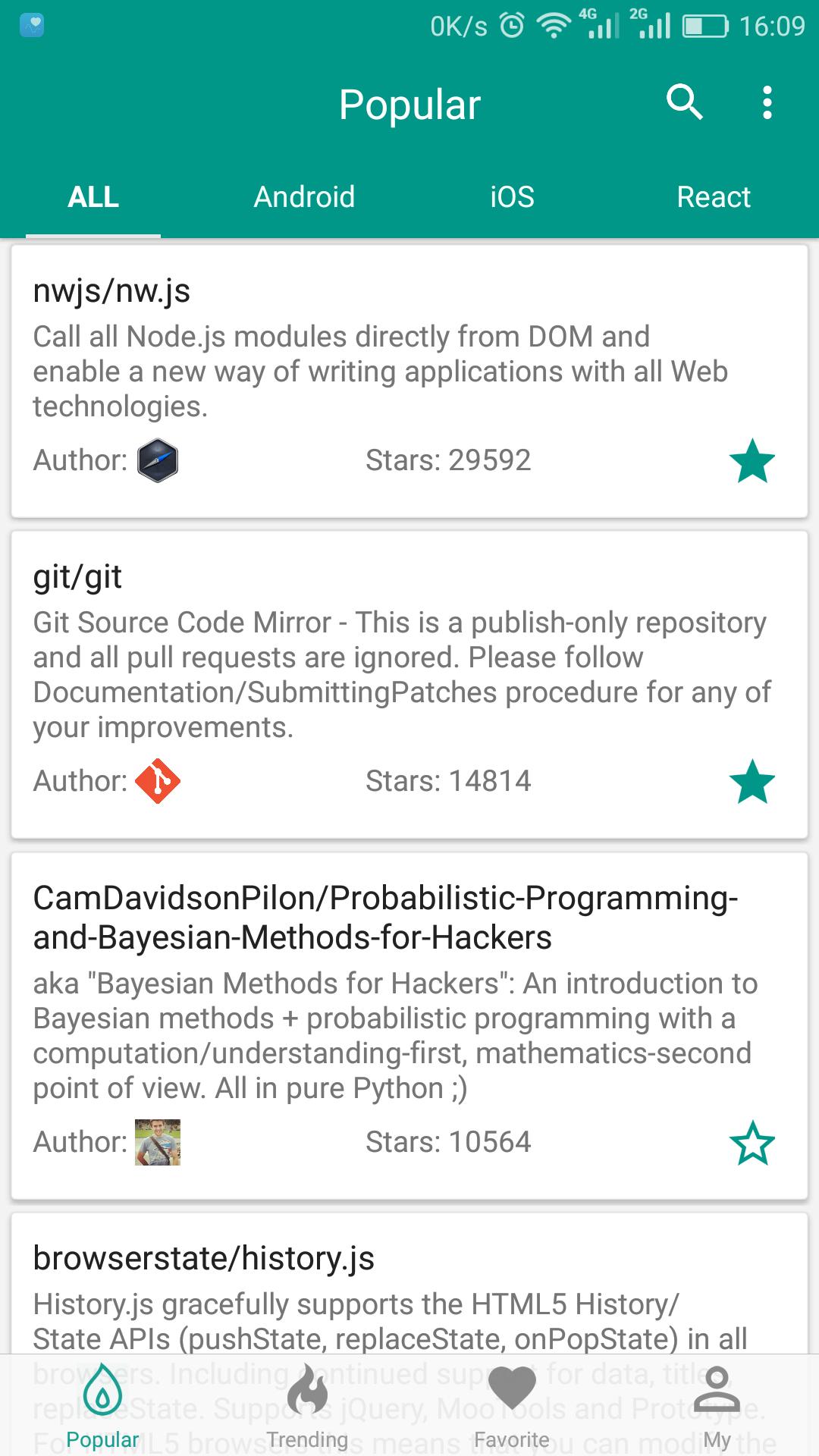 GitHub Popular-应用截图
