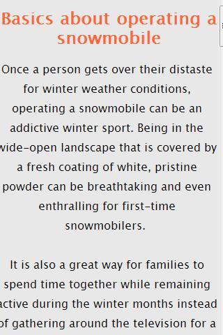 雪地摩托车技巧 Snowmobiling tips