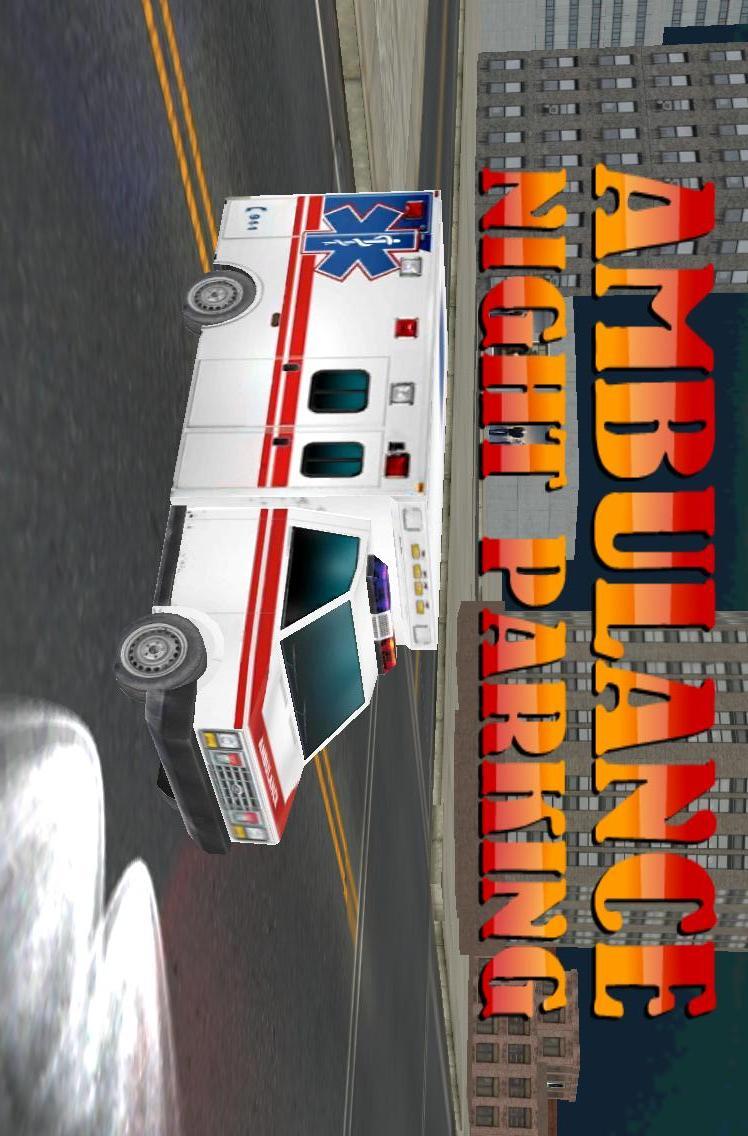 3D救护车夜间停车