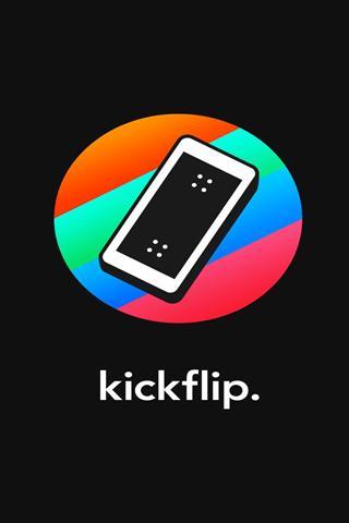 手机滑板 Kickflip a skateboard