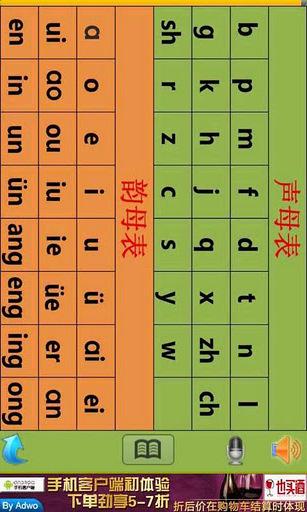 47个拼音字母及识字卡-儿童教育