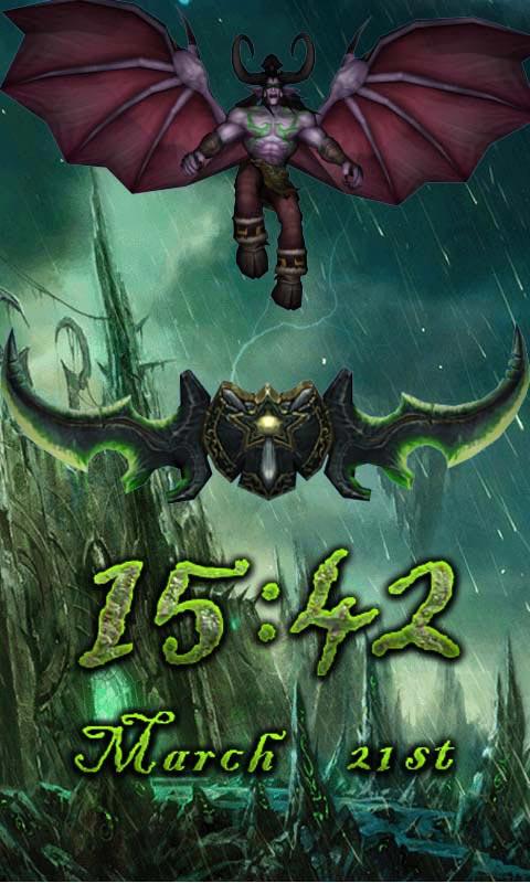 魔兽主题锁屏