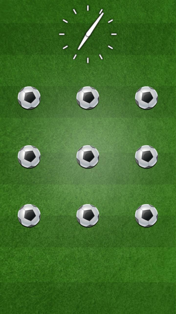足球图案锁屏