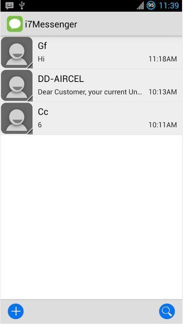 IOS 7短信 IOS 7 messaging